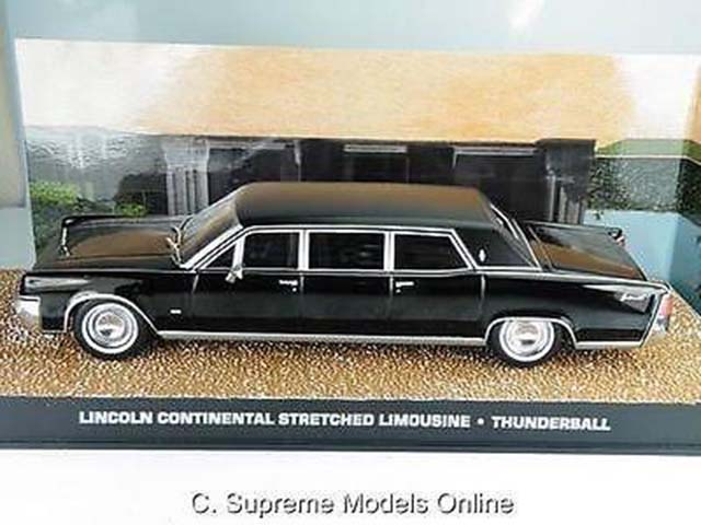 lincoln continental limousine james bond thunderball 1 43 size example t3412z ebay. Black Bedroom Furniture Sets. Home Design Ideas