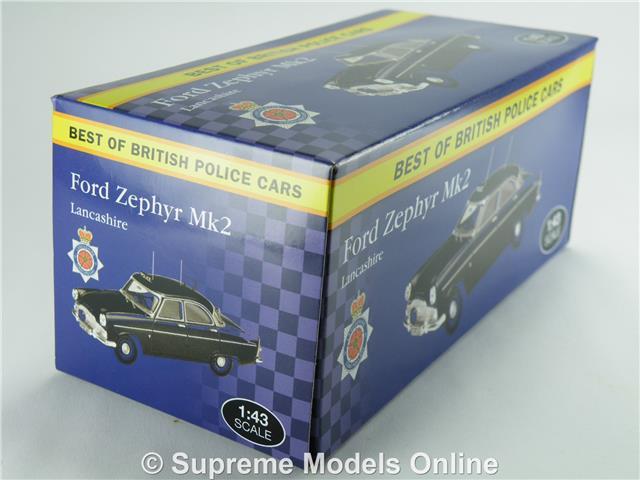 FORD Zephyr MK 2 Lancashire Police Polizia ATLAS 1:43 modello da collezione