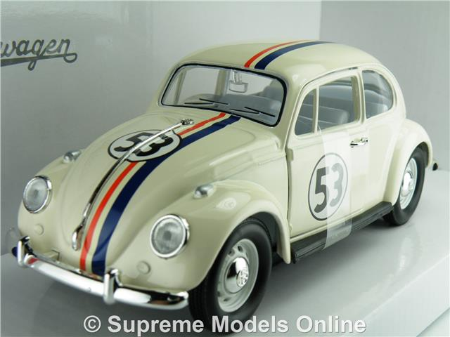 1:18 Solido VW Beetle 1303 #53 Herbie creme