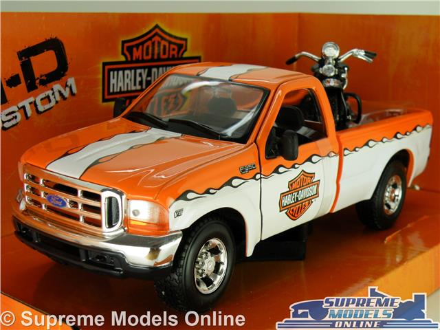1:24 Scale Maisto Police Ford F350 /& Harley Davidson Diecast Model Truck 1:27