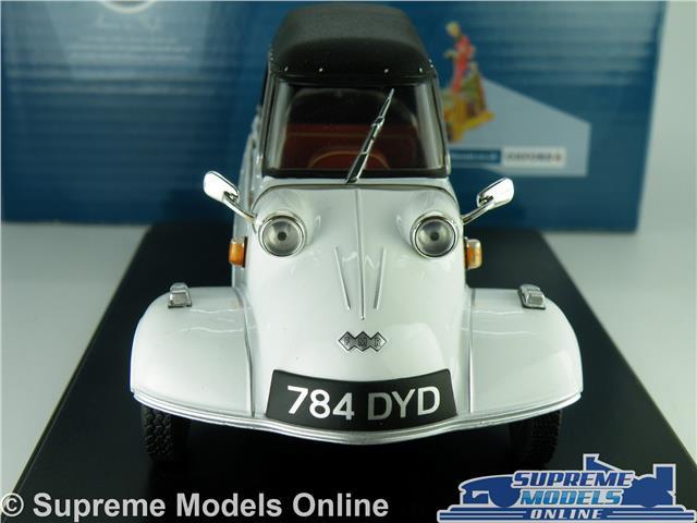 MESSERSCHMITT KR200 MODEL BUBBLE CAR 1:18 SCALE OXFORD 18MBC005 WHITE 3 WHEEL K8