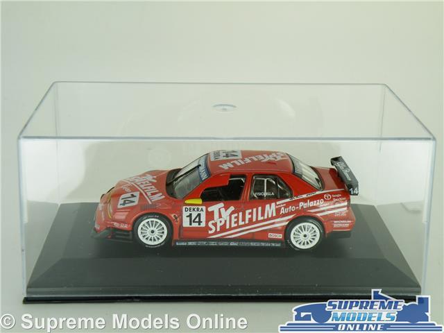 ALFA ROMEO 155 V6 TI MODEL CAR 1996 RED 1:43 SCALE TOURING CAR IXO CASE K8