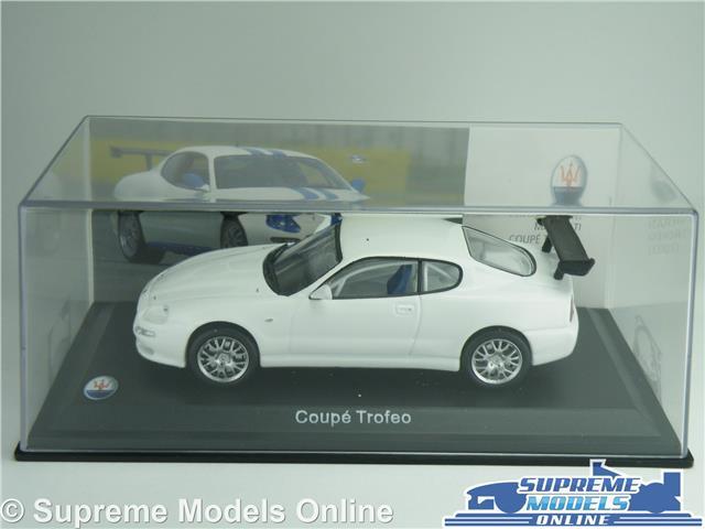 MASERATI COUPE TROFEO CAR MODEL 1:43 SIZE WHITE IXO ALTAYA 2003 ...