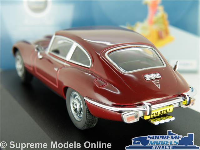 Jaguar E Tipo Coche Modelo V12 e 1:43 Escala Oxford JAGV 12003 Granate Sports Coupe K8