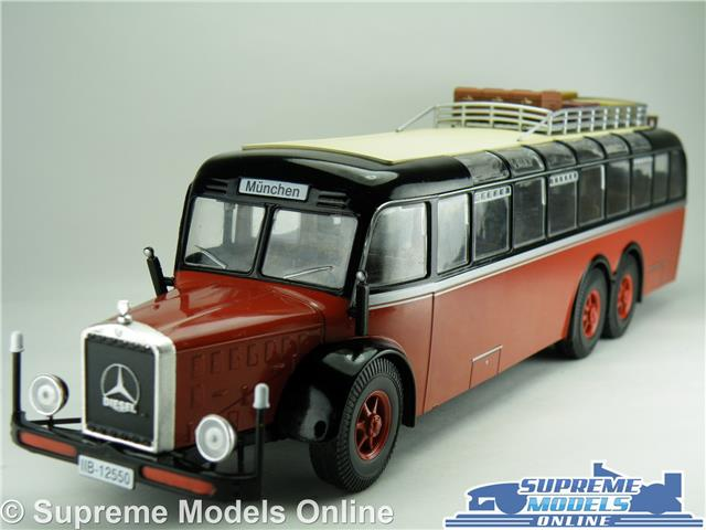 Details about MERCEDES BENZ O10000 BUS MODEL 1939 1:43 SIZE IXO GERMANY  MUNCHEN RED/BLACK T34Z