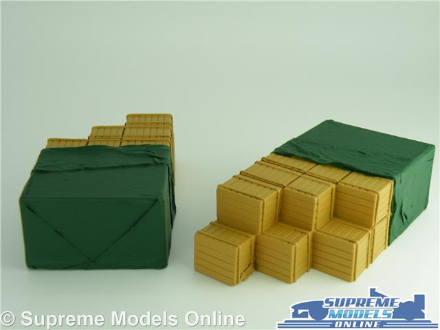 2 X CRATE TRUCK LORRY LOADS 1:50 SIZE CORGI CLASSIC /& MODERN MU T3 2 X SHEETED