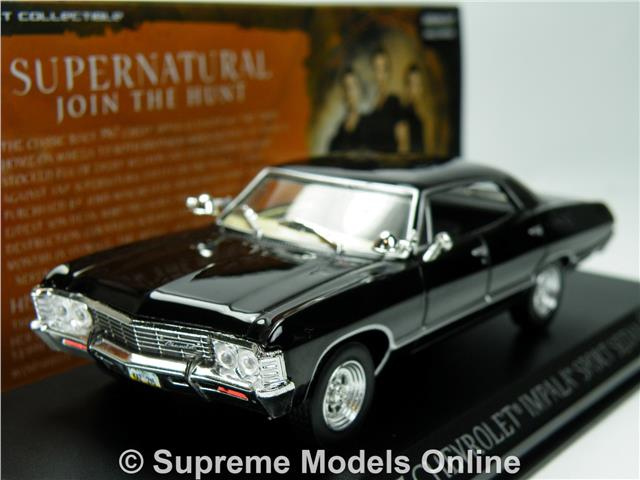 supernatural chevrolet impala model car 1 43 scale. Black Bedroom Furniture Sets. Home Design Ideas