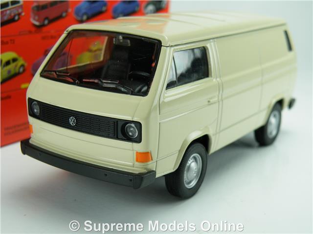 volkswagen t3 van model car 1 38 scale cream welly 43687. Black Bedroom Furniture Sets. Home Design Ideas