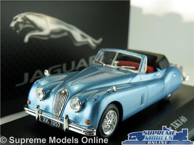 Jaguar Xk140 Model Car 1 43 Scale Blue Atlas Ixo Sports 4641103 Open