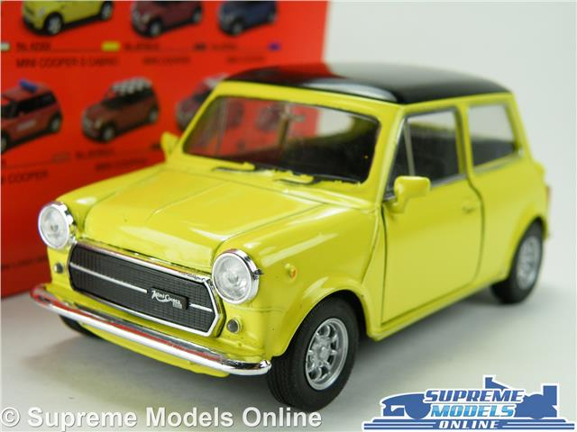 Austin Morris Mini Cooper Model Car Yellow 1 36 1 38 Size Welly Nex