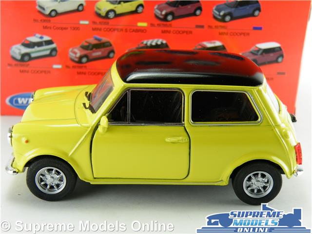Morris Austin Mini Cooper Car Model Yellow 1 36 1 38 Scale Opening