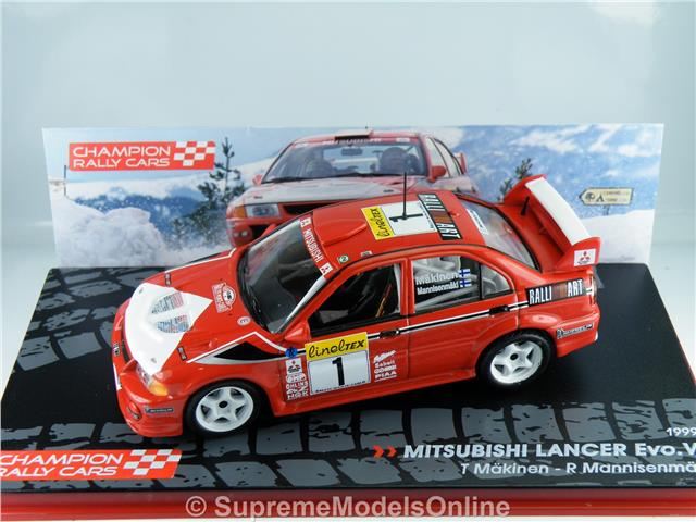 Mitsubishi Lancer Evo Vi Rally Car Makinen 1 43rd Scale Red