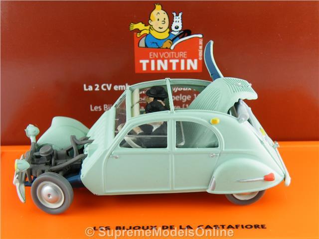 CITROEN 2CV TINTIN modello auto 1:43 SCALA confezionato classico problema K8Q