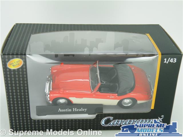 Austin Healey coche modelo escala 1:43 Rojo//Crema Cararama Deportes parte superior abierta Roadster K