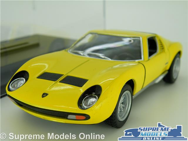 Lamborghini Miura P400 Model Car 1971 1 34 Size Yellow Display