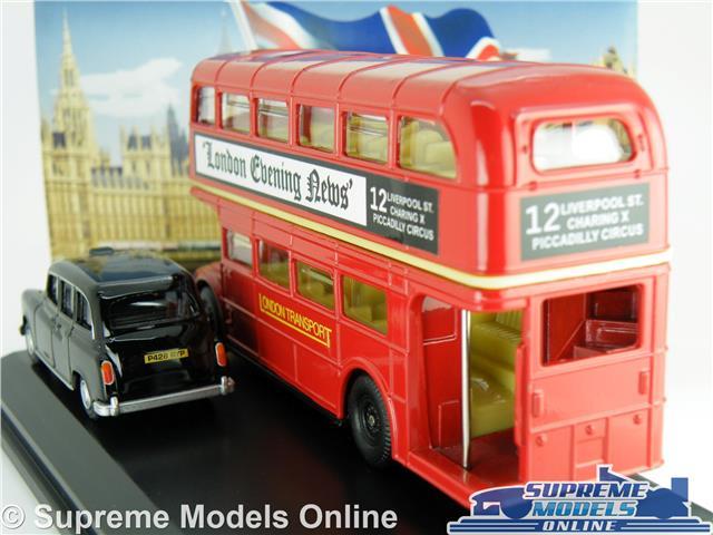 BNIB OO GAUGE OXFORD 1:76 LD004 LONDON BUS /& TAXI GIFT