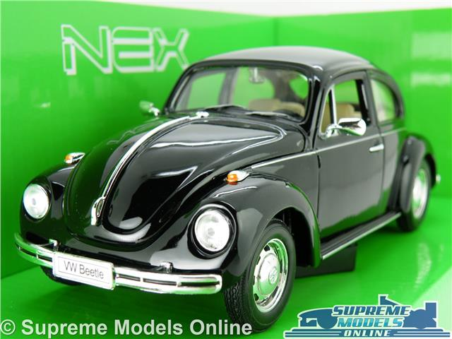 Vw Volkswagen Beetle Model Car 1 24 Scale Black 60 S 70 S Welly Opening Parts K8 Ebay