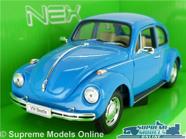 Vw Volkswagen Beetle Model Car 1 24 Scale Blue 60 S 70 S Welly Opening Parts K8 Ebay