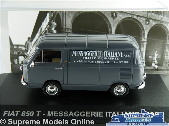 FIAT 850 T MODEL VAN 1:43 SCALE IXO 1965 MESSAGGERIE ITALIANE FIRENZE ITALY K8