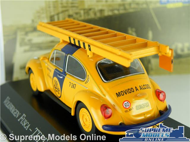 Volkswagen Fusca Beetle Policía Brasil Sao Paulo 1:43 Ixo Altaya Diecast Coche