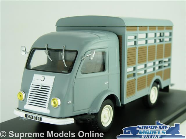 Details About Renault Horsebox Animal Transporter Model Truck Van 1 43 Scale Ixo Horse Grey K8