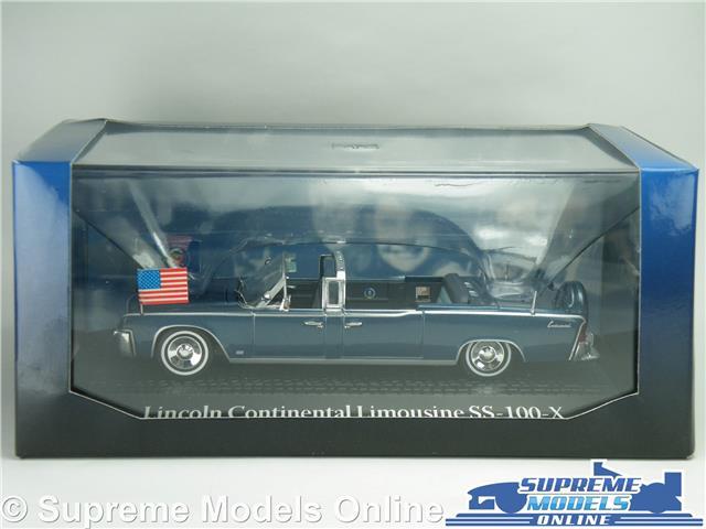 kennedy maqueta de coche metal 1:43 Limusina 1963 lincoln continental john f