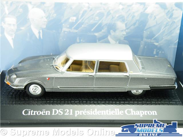 CITROËN DS21 CHAPRON 1:43 DE GAULLE NIXON 1969 NOREV DIECAST MODELL AUTO