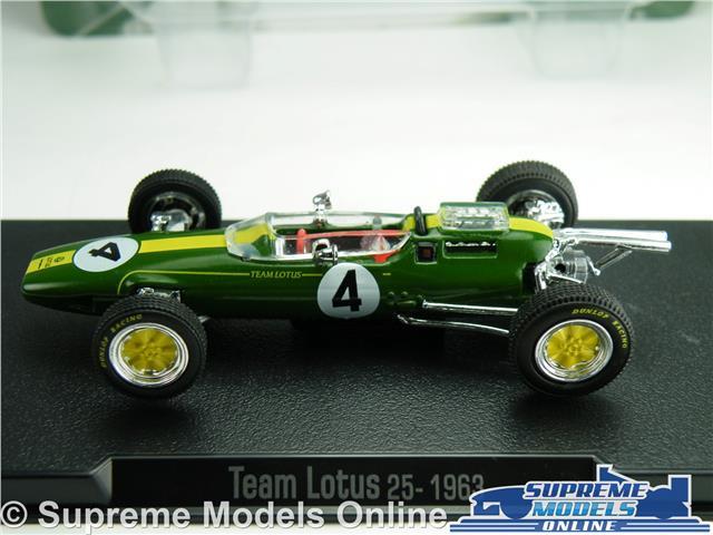 TEAM LOTUS 25 FORMULA 1 RACING MODEL CAR JIM CLARK 1:43 SCALE ONE 1963 K8Q