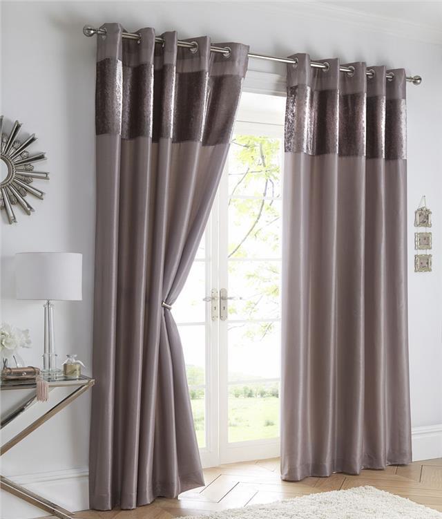 Crushed Velvet Curtains Luxury Faux Silk Lined Eyelet