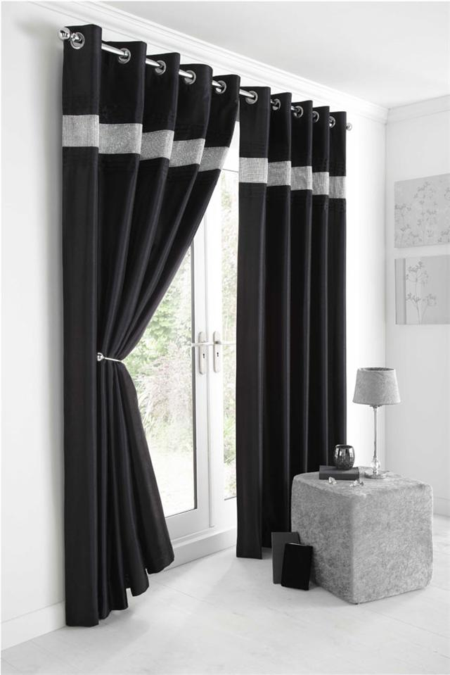 Image Result For Black And White Curtains Walmart