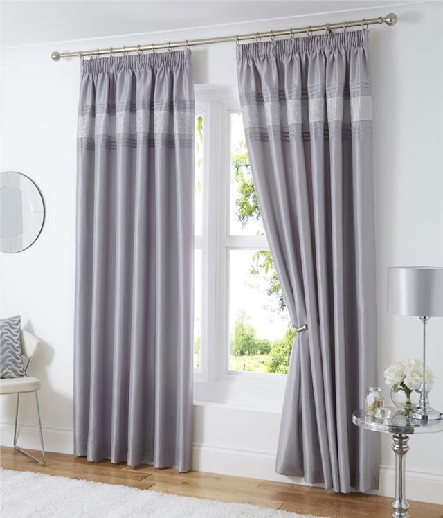 Lined Curtains Eyelet Rings Or Pencil Pleat Tape Top