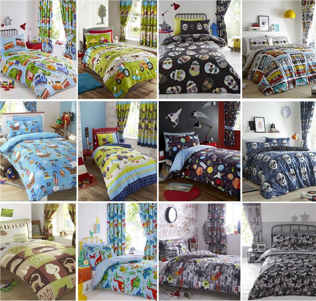 Dinosaur Duvet Sets Boys Blue Bedding Childrens Quilt