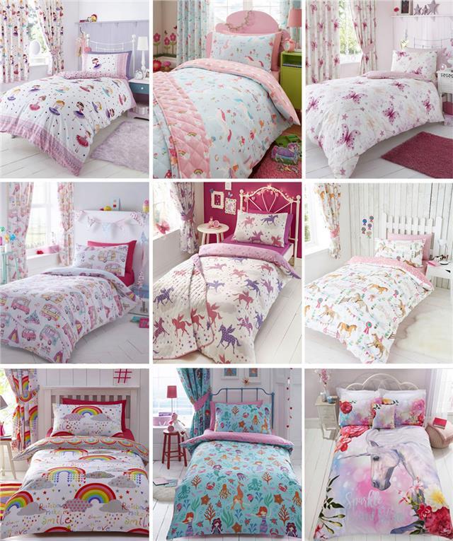 King Double Single Double, Pink Owl Duvet Cover Sets Kids Children Toddler Quilt Cover Bedding Set Cot Bed Super King