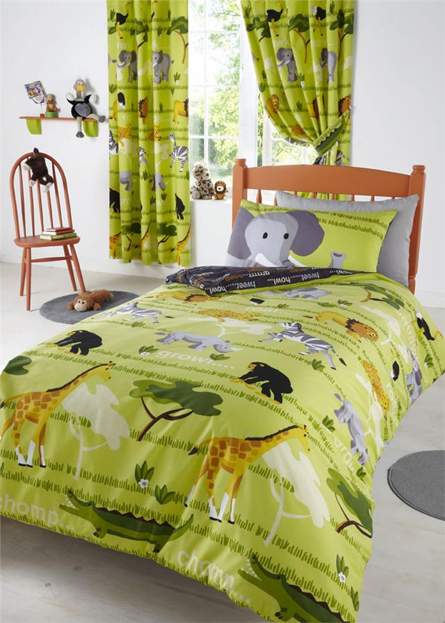 SAFARI ANIMAL PARK SINGLE OR DOUBLE DUVET SETS