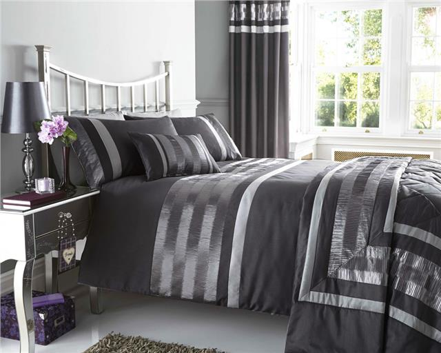 NEW PINTUCK DUVET COVER SETS CUSHIONS MATCHING LINED EYELET ...