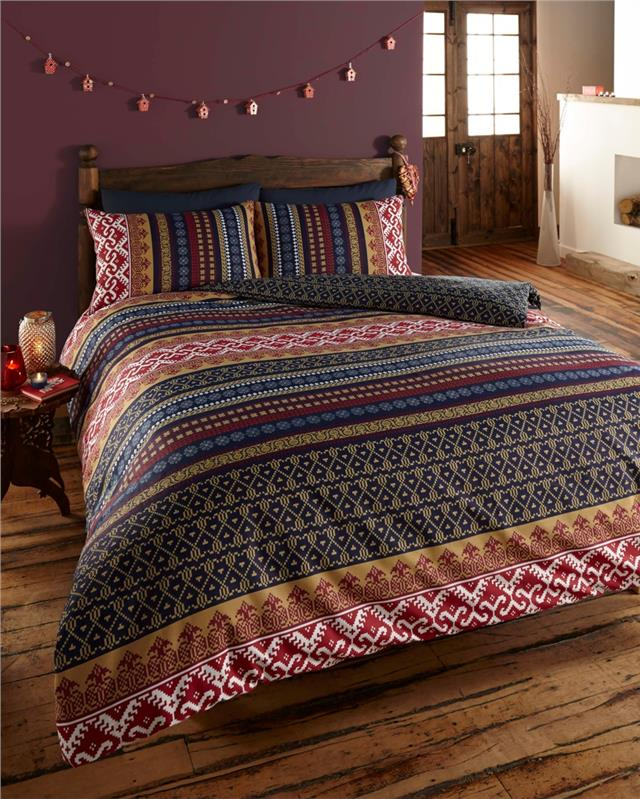 NEW INDIAN ETHNIC PRINT BEDDING DOUBLE DUVET SET QUILT COVER BED ...
