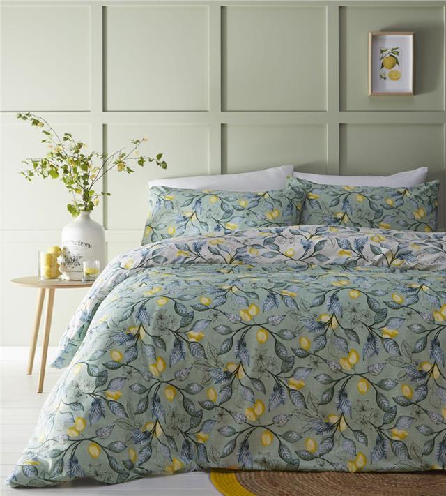 Duvet Sets Mediterranean Sage Green, Sage Green And Gray Bedding