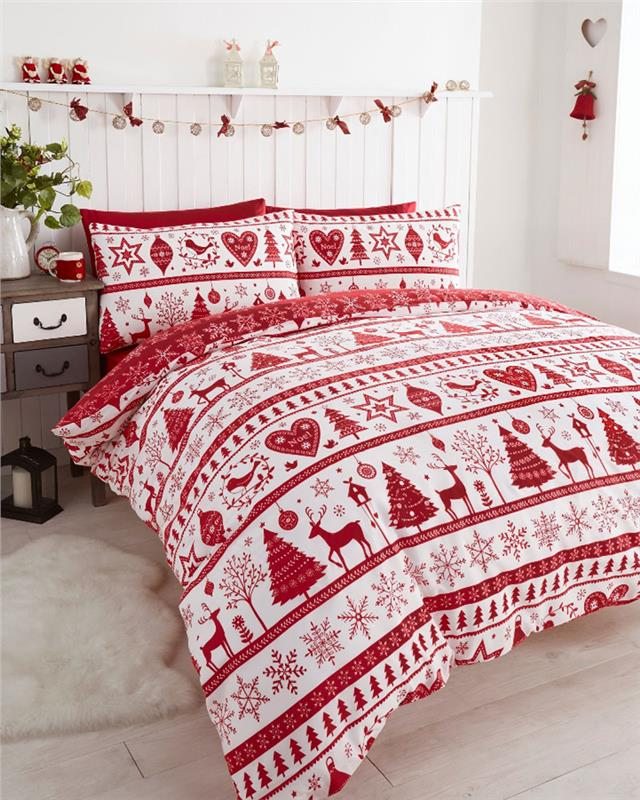 Details About Christmas Decorations Duvet Cover Sets Reindeer Stags Hearts Xmas Bedding