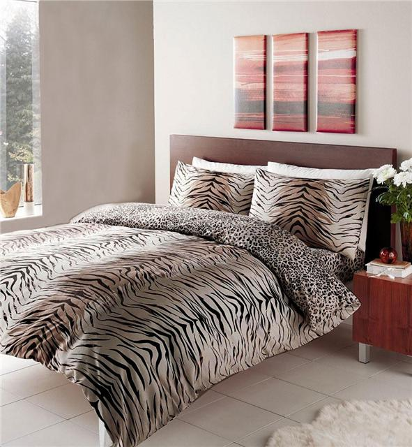 New Animal Print Duvet Sets Zebra Leopard Safari Wolf