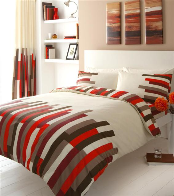 New Contemporary Blocks Bumper Bed Packs Matching Curtains Duvet Cover Sets Ebay