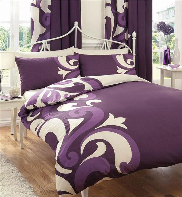 ... NEW COMPLETE BED SETS - DUVET QUILT COVER & MATCHING CURTAINS 66 x 72