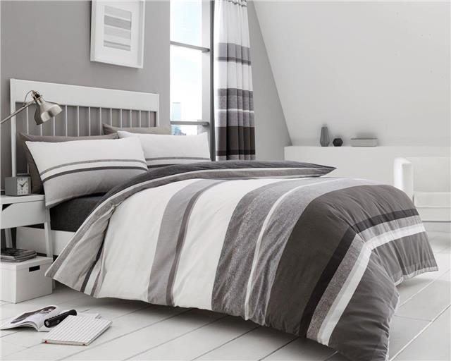 Home Bedding Hudson Duvet Quilt Pillow Cover Case PolyCotton Luxury Reversible Bedding Set