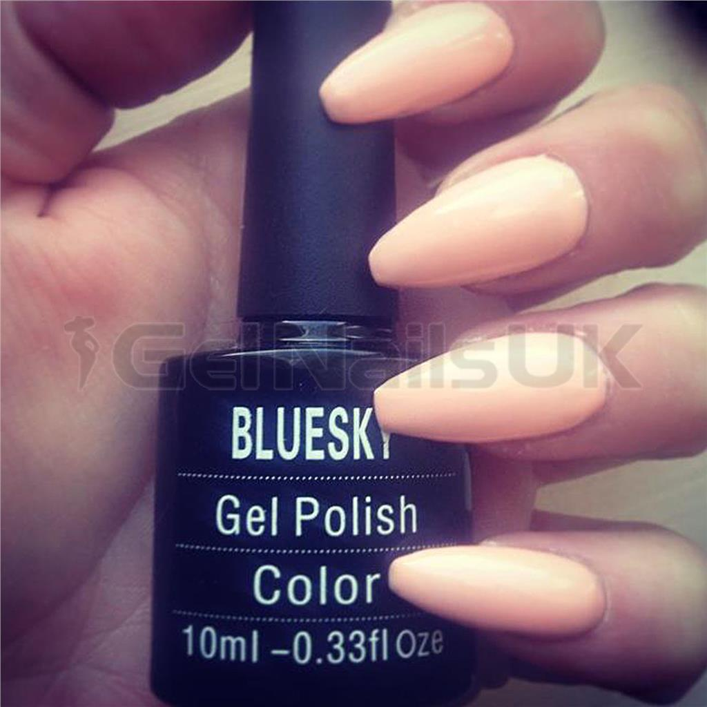 Bluesky A95 PEACH NUDE UV/LED Soak Off Gel Nail Polish 10ml Free ...