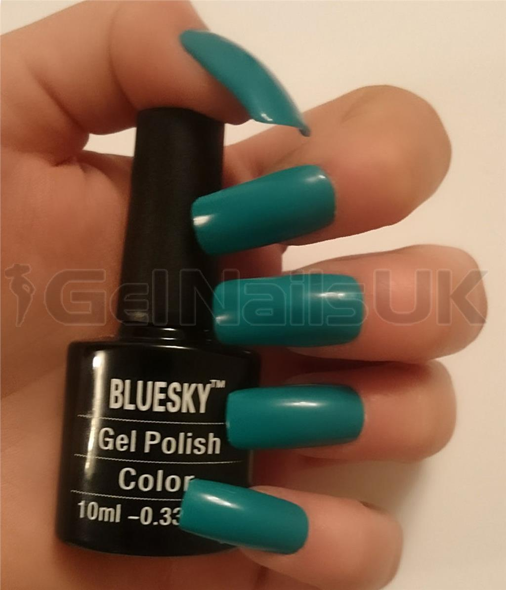 Bluesky QXG077 DARK TEAL UV/LED Soak Off Gel Nail Polish 10ml Free ...