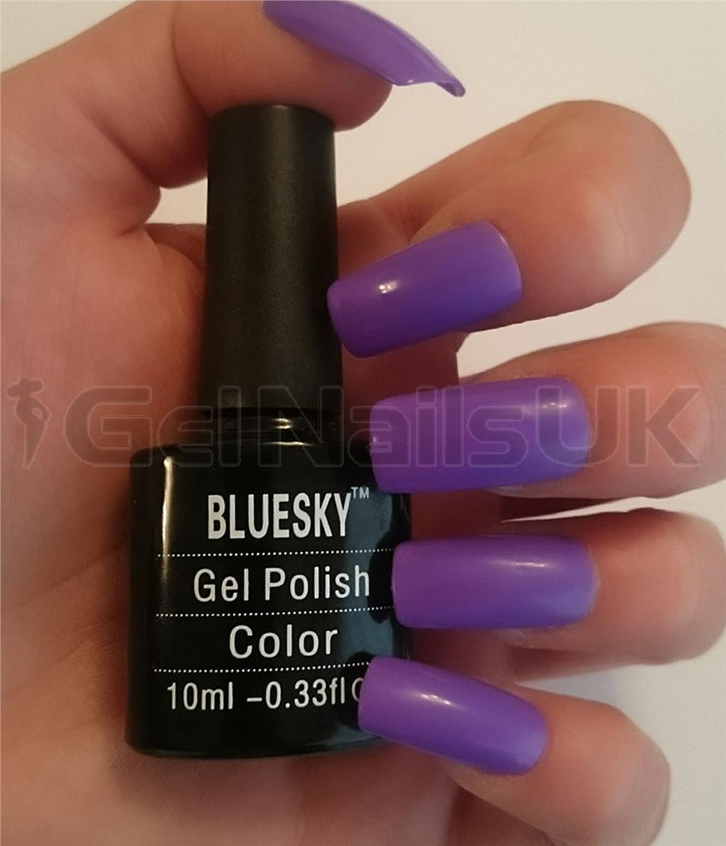 Bluesky QXG418 DARK ORCHID UV/LED Soak Off Gel Nail Polish 10ml FREE ...