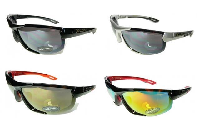 New Xloop Mens  UV400 Designer Sports Wrap Black//Brown lens Sunglasses XL130