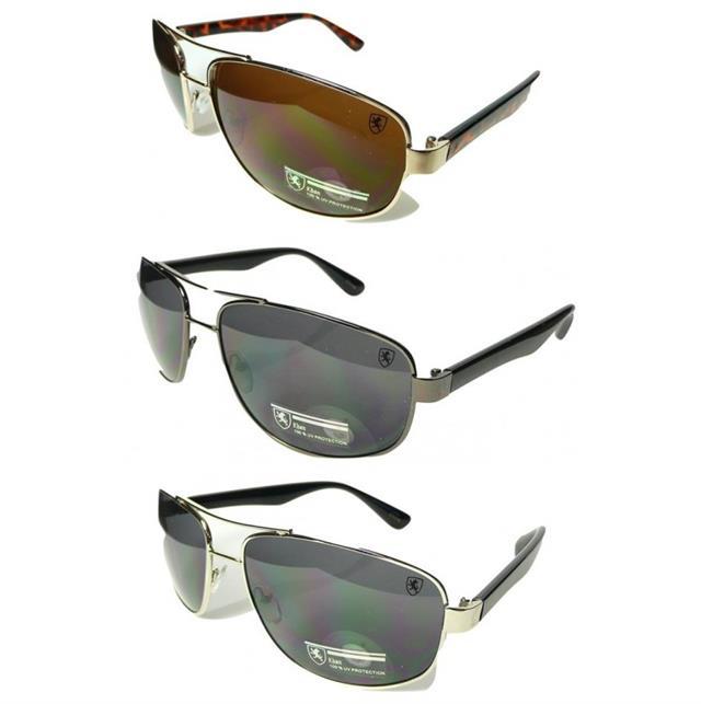 Mens  KHAN Designer Pilot style Sunglasses  K35