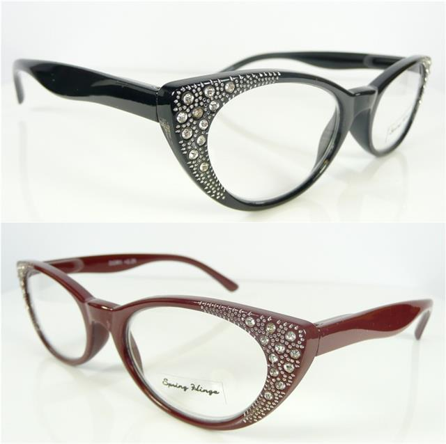 Womens Ladies Reading Glasses Diamante Rhinestone Designer