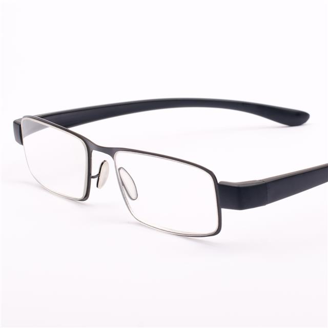 new mens gents womens metal black reading glasses 1 00 1