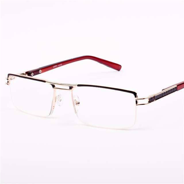 mens quality reading glasses semi rimless metal 1 0 1 25